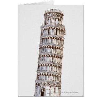 Cartes Illustration de la tour de Pise