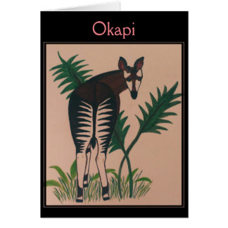 Cartes Illustration d'okapi