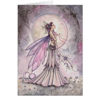 Cartes Illustration féerique céleste pourpre d'art
