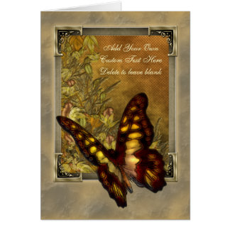 Cartes Illustration vintage de papillon de style
