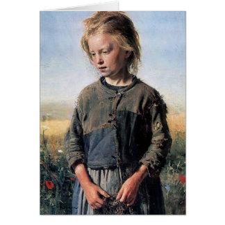 Cartes Ilya Repin- une fille de Fisher