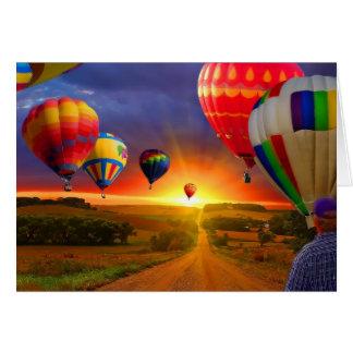 Cartes image chaude de ballon à air