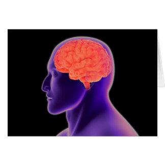 Cartes Image conceptuelle de l'esprit humain 1