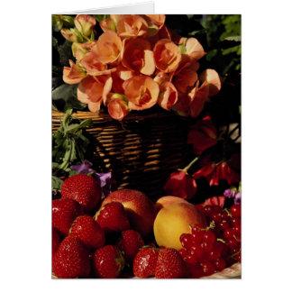 Cartes Image de fruit et de fleurs