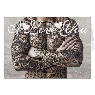 Cartes Image de photo de tatouage de corps masculin je