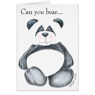 Cartes Image d'ours panda