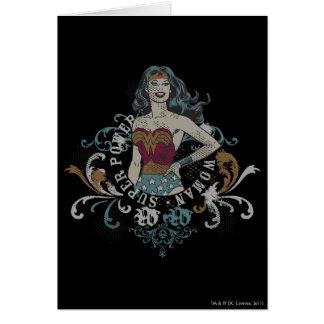 Cartes Image tramée de femme de merveille
