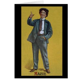 Cartes Image vintage de vaudeville de transport de Mazie