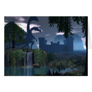 Cartes Imaginaire de cascade avec le dragon