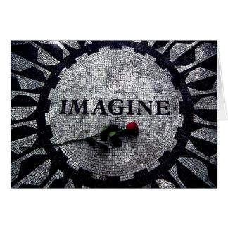 Cartes Imaginez le monument avec le jour de mère de rose