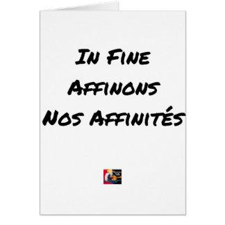 Cartes IN FINE, AFFINONS NOS AFFINITÉS - Jeux de mots