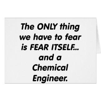Cartes ingénieur chimiste de crainte