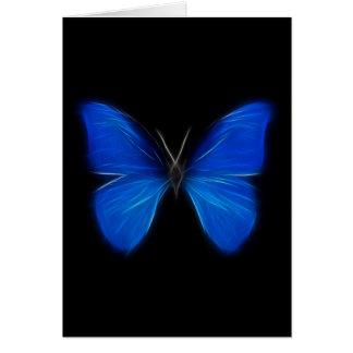 Cartes Insecte de vol bleu de papillon