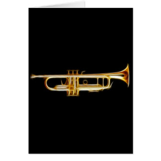 Cartes Instrument de musique de vent de klaxon en laiton
