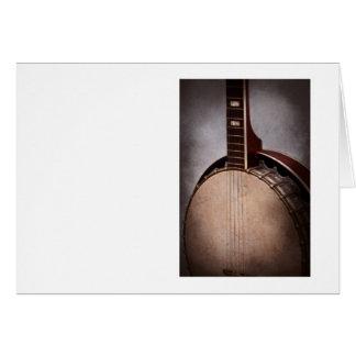 Cartes Instrument - ficelle - un banjo typique