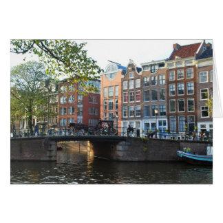 Cartes Intemporel - pont à Amsterdam