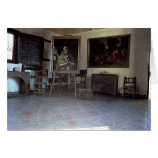 Cartes Intérieur du studio d'El Greco