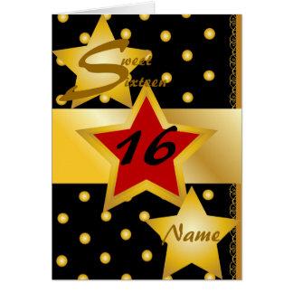Cartes Invitation-Personnaliser de sweet sixteen
