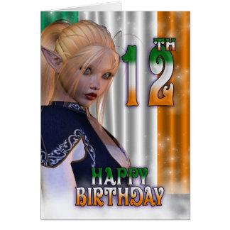 Cartes Irlandais de joyeux anniversaire, Elf