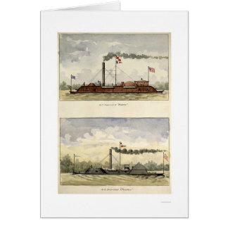 Cartes Ironclads Essex et Choctaw par Stouffer 1864