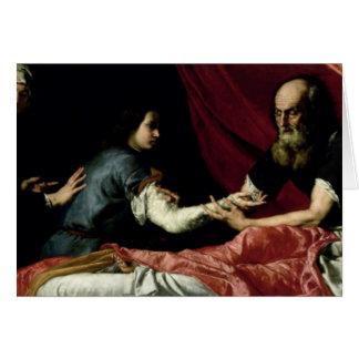 Cartes Isaac bénissant Jacob, 1637