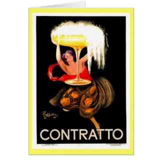 Cartes Italien célèbre Champagne de Leonetto Cappiello