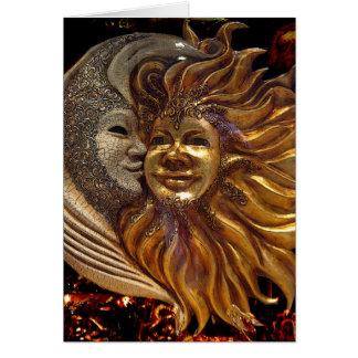 Cartes Italien Sun et masques de Carnaval de lune