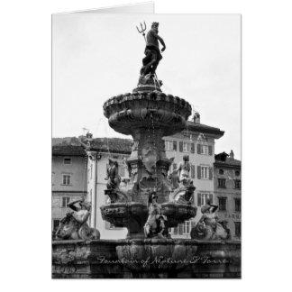 Cartes italiennes, fontaine de Neptune et Torre