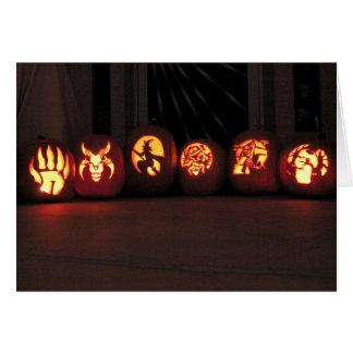 Cartes Jack-O-Lanternes de Halloween