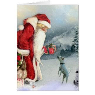 Cartes Jack Russell Terrier et Noël de père