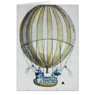 Cartes Jacques Charles et ballon de Nicholas Robert