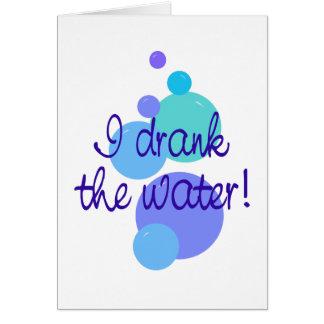 Cartes J'ai bu l'eau