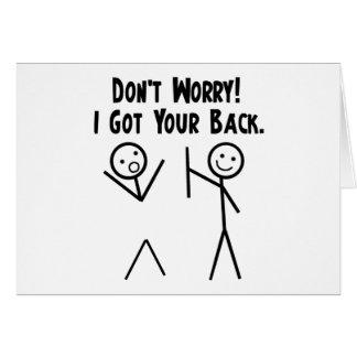 Cartes J'ai obtenu votre dos !