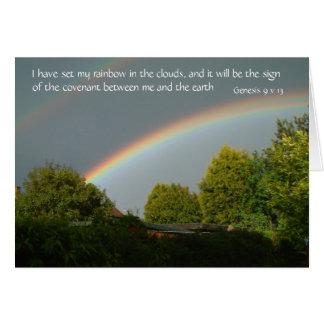Cartes J'ai placé mon arc-en-ciel dans les nuages,…