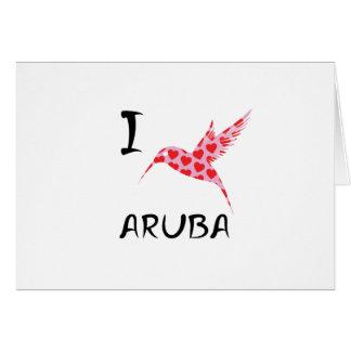 Cartes J'aime Aruba