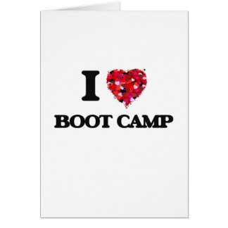 Cartes J'aime Boot Camp