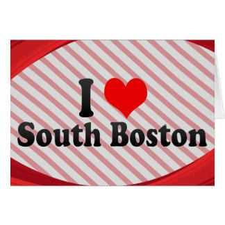 Cartes J'aime Boston du sud, Etats-Unis