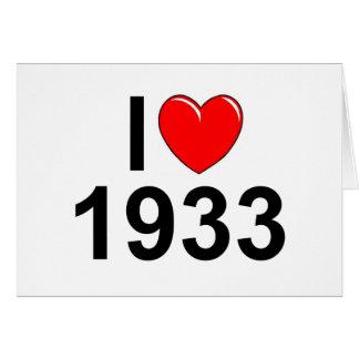 Cartes J'aime (coeur) 1933