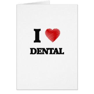 Cartes J'aime dentaire