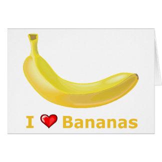 Cartes J'aime des bananes