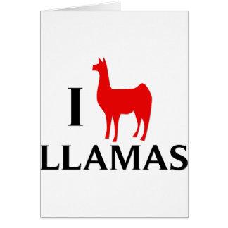 Cartes J'aime des lamas