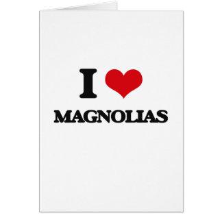 Cartes J'aime des magnolias