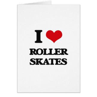 Cartes J'aime des patins de rouleau