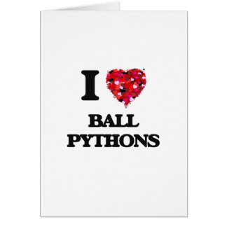 Cartes J'aime des pythons de boule