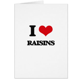 Cartes J'aime des raisins secs