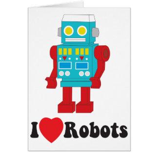 Cartes J'aime des robots !