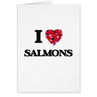 Cartes J'aime des saumons