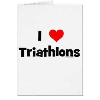 Cartes J'aime des triathlons