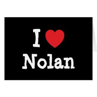 Cartes J'aime la coutume de coeur de Nolan personnalisée