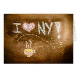 Cartes J'aime la déclaration de tableau de NY